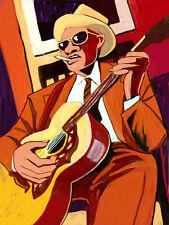 REVEREND GARY DAVIS PRINT poster blues gospel guitar harlem street singer cd
