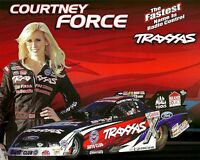 COURTNEY FORCE 2012☞#1 NHRA Drag Racing FORD TRAXXAS Funny Car POSTCARD HANDOUT