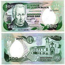 Colombie Colombia Billet 200 PESOS ORO 1992 BOGOTA MUTIS P429A NEUF UNC