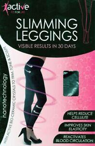 1 X Anti-Cellulite Calorie Burning Slimming Leggings RESULTS IN 30 DAYS BLACK