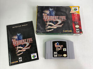 Resident Evil 2 (Nintendo 64, N64) -- Authentic -- Complete in Box -- Tested