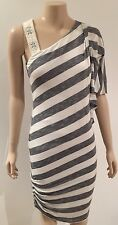BEBE USA - Blue And White Stripe Day-night Summer Dress - Size Medium