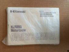KAWASAKI KLR250 MOTORCYCLE OWNERS MANUAL