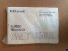 KAWASAKI KLR250 MOTORCYCLE OWNERS MANUAL