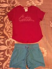 Basic Editions Red Shirt Sz 10/12 & Blue So Shorts Sz 7