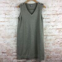 J. Jill Womens Tan Sleeveless Linen Blend Sweater Dress Size Large Petite