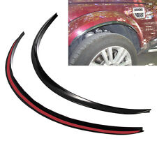 2Pc Car SUV Fender Wheel Lip Protector Anti-Scratch Soft Rubber Strips Universal