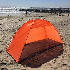 Orange Beach Umbrella Tent Weather Shelter Sand Sun Shade Outdoor UV Protect