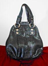 Adrianna Papell Black Faux Snakeskin Purse Handbag