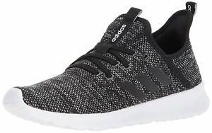 Adidas Womens Cloudfoam Pure Low Top Lace Up, Black/Black/White, Size 7.0 XGjG