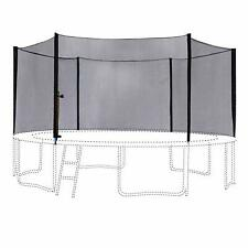 13FT Round Trampoline Outer Enclosure Net with 6 Poles 6180-N013