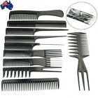 10X Beauty Salon Hair Styling Hairdressing Plastic Barbers Brush Combs JHCOM1025
