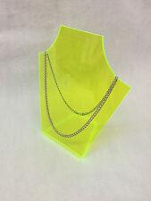 Perspex Fluorescent acrylique vert formé Collier Bijoux Support Affichage NEUF