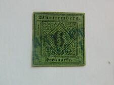 61-ALLEMAGNE  WURTEMBERG Royaume n° 3  6k vert, oblitéré, beau
