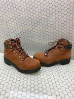 HAWX 'ENFORCER' Brown Leather Lace Up COMP Toe Work Boots Men's Size 10 D