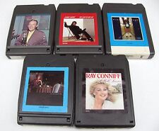 Lot of 5 - 8 Track Tapes Bing Crosby – Mathis – Ronstadt – Murray - Conniff