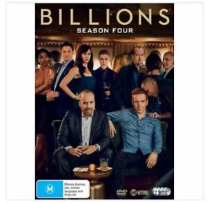 BILLIONS - SEASON 4...4 X DISCS..REG 4..NEW & SEALED   V9