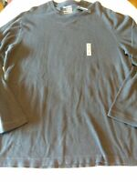 Men's Old Navy Henley Thermal Waffle Shirt XL  Navy Blue Long Sleeve Brand New
