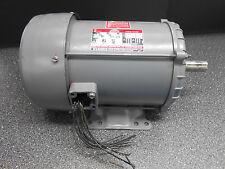 DAYTON TRI-VOLT 3N559B 5.0HP 3PH ELECTRIC MOTOR 208-30 / 460 VOLTS