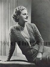 Vintage Knitting Pattern 1930s/1940s lady's Cardigan/Jacket.
