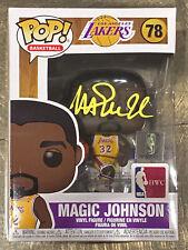 Lakers Magic Johnson Signed NBA HWC #78 Funko Pop Vinyl Figure w/ Yellow Sig BAS