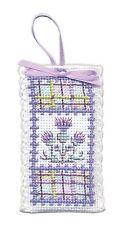 Sachet incd. Lavender, Scottish Cross Stitch Kit; 'Tartan Thistles' by Textile H