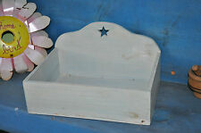Primitive Large Wooden Wood Vantage Looking Candle Box Folk Art Farmhouse Decor