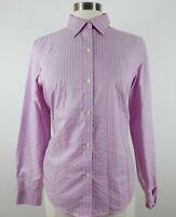 Lauren Ralph Lauren Womens Non Iron LS Button Up Pink Striped Shirt No Tag M?