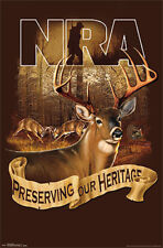 NATIONAL RIFLE ASSOCIATION NRA Preserving Our Heritage Gun Rights Wall POSTER