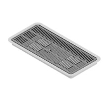 "16"" x 7"" Krome C4007 Flush Mount Drip Tray with Drain In-Counter"