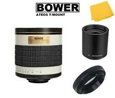 Bower 500/1000mm f/6.3 (ATEOS) Telephoto Mirror Lens for Canon EOS DSLR Camera
