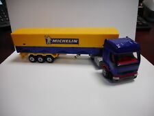 MAJORETTE RENAULT SAVIEM TRUCK WITH TRAILER MICHELIN CAMION NEAR MINT RARE