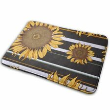Sunflower Floor Mat Machine Washable Kitchen Room Doormat Carpet Home Decor