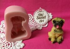 Dog Puppy III  doggie Silicone Mold Food Cake Decoration soap Cupcake (FDA)
