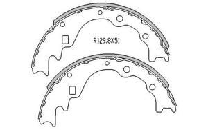 RDA REAR BRAKE SHOES for Kia Pregio CT 2.7D 8/2002-4/2006 R1587