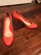 "Coach Coral Pink ""Nala"" Patent Leather Pump Heels, Size 8"
