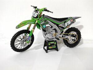 New Ray 1:12 #319 Bud Racing Kawasaki KXF 450 Toy Model Supercross MOTOCROSS