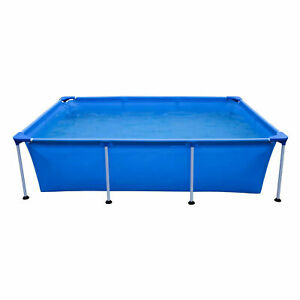 JLeisure 17773 Above Ground Rectangular Steel Frame Swimming Pool, 10 x 6.5 Ft