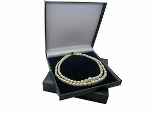 Large Necklace Set Box Earrings Bracelet Jewellery Case 19.4cm x 19cm Blue