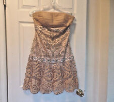 SUE WONG GORGEOUS SHORT SPECIAL OCCASION DUSTY PEACH STRAPLESS  DRESS NWT SZ 6
