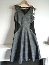 Ladies Lovely Next Black Mix Textured Tweed Style Knee Length Dress 10, Vgc