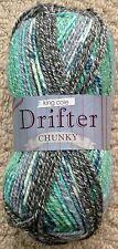 Knitting Wool 100g Drifter Chunky Yarn Cotton Mix Multi Chunky King Cole