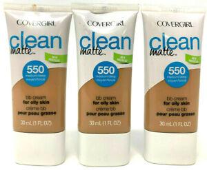 (3) Covergirl Clean Matte BB Cream For Oily Skin 1 fl oz 550 - Medium / Deep