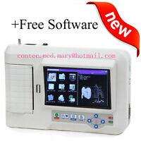 CONTEC ECG600G 6-Channel 12-Lead Digital Cardiology EKG ECG Machine, w/software