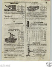 1922 PAPER AD Buda Foundry Railroad Railway Hand Cart Harvey Push Atlas Car Push