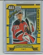 ACEO 2014 MARTIN BRODEUR 1/1 MASTERPIECE Hand Paint Art Style Sketch Card NJD