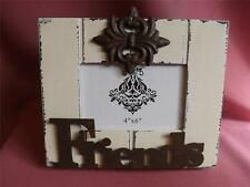 "FRIENDS * PHOTO FRAME * ANTIQUE LOOK* METAL ATTACHEMENTS *NEW photo *4""x6"""
