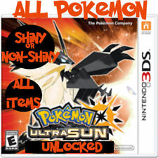 Deluxe Ultra Sun All 807 Pokemon 100% Legal Shiny Max Items Event 3DS 2DS Moon
