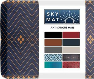 """Sky Solutions anti Fatigue Mat Cushioned Comfort Floor Mats for Kitchen 24"""" x 70"""