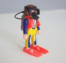 PLAYMOBIL (Z314) MER - Plongeur Femme avec Palmes Bouteilles Masque Détendeur